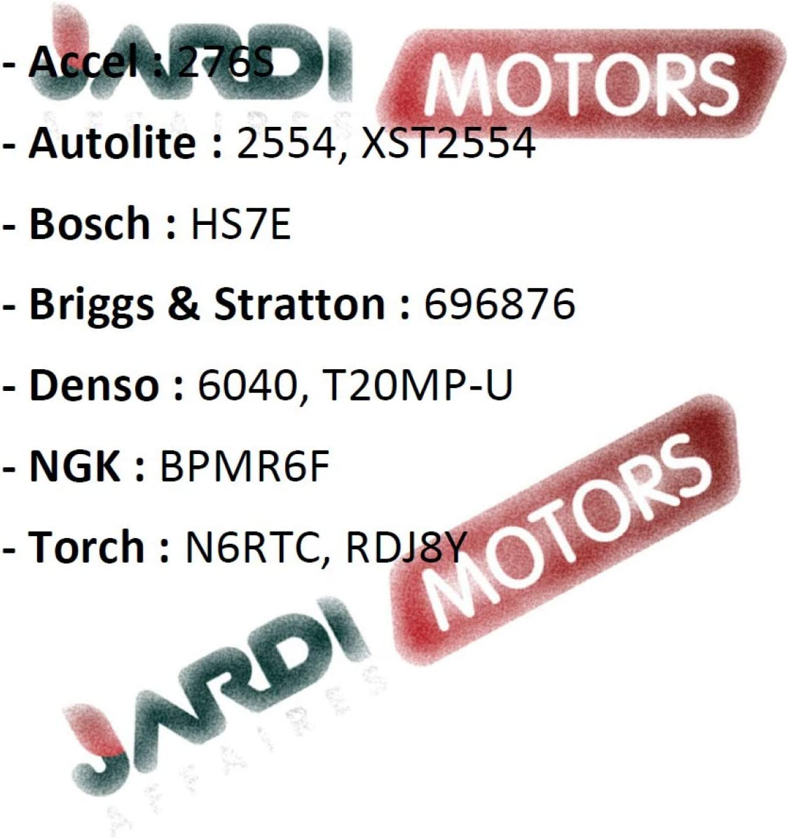 Jardiaffaires Champion RDJ7Y Candle for Thermal Motor