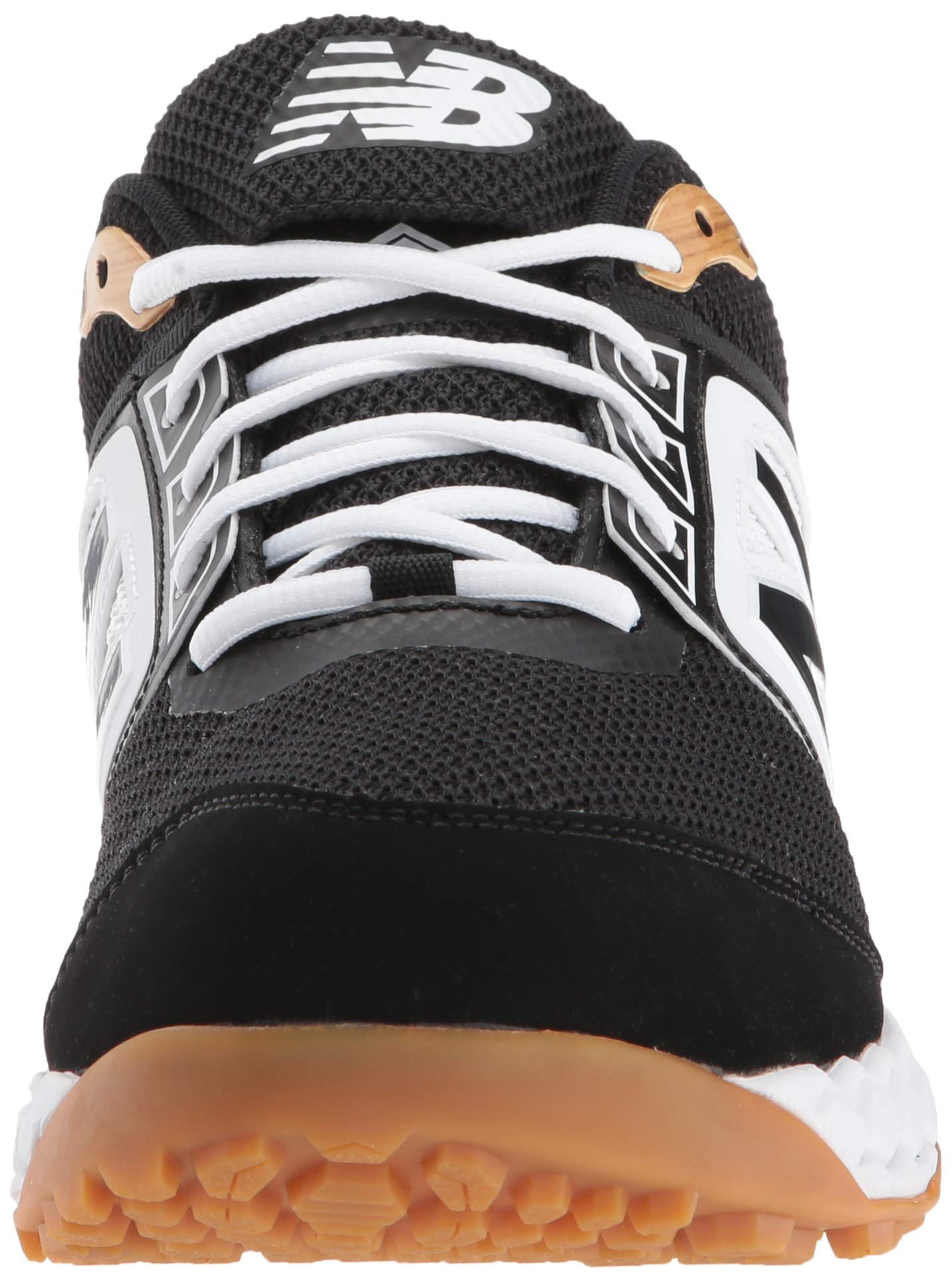 New Balance Men's 3000v4 Turf Baseball Shoe, Black/White, 5 D US by New Balance (Image #4)