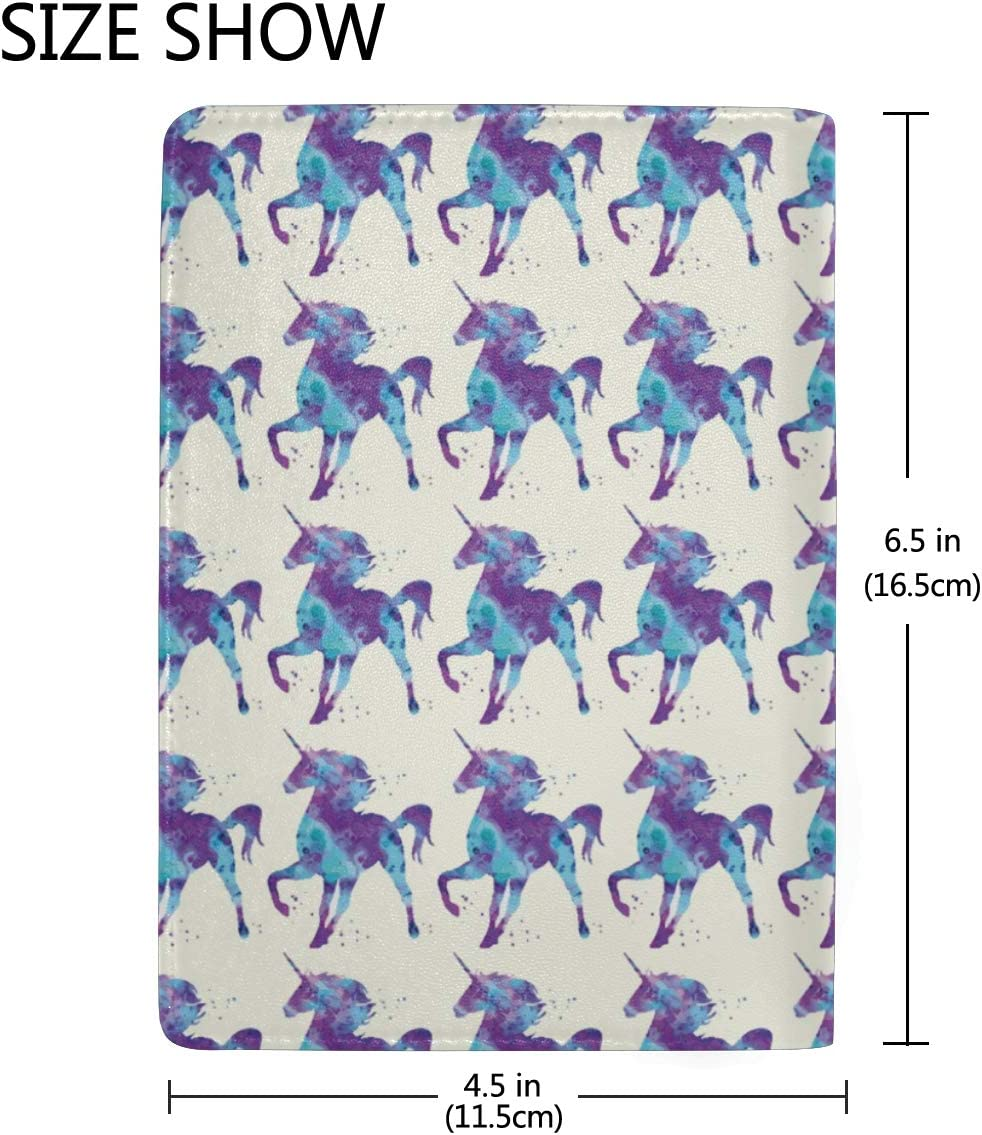 Unicorn Dancing With The Light Leather Passport Holder Cover Case Blocking Travel Wallet
