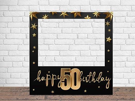 Photocall Feliz 50 Cumpleaños Estrellas 100 X100 Cm Regalos Para Cumpleaños Photocall Económico Y Original Ideas Para Regalos Regalos Personalizados De Cumpleaños Amazon Es Hogar