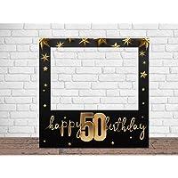 Photocall Feliz 50 Cumpleaños Estrellas 100 x100 cm
