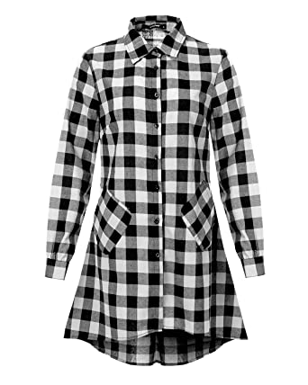 Summer Plaid Women Loose Shirts Half Sleeve Casual Summer Blouses Shirts New Irregular Checked Shirts Women's Clothing