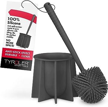 Stainless Steel Toilet Brush Set Teardrop-shaped Bathroom Cleaning Accessories