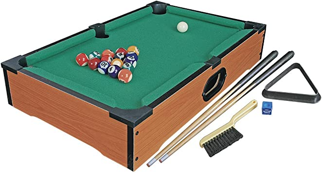 Invero® Deluxe Mini Wooden Table Top Pool Table Billiards Snooker ...