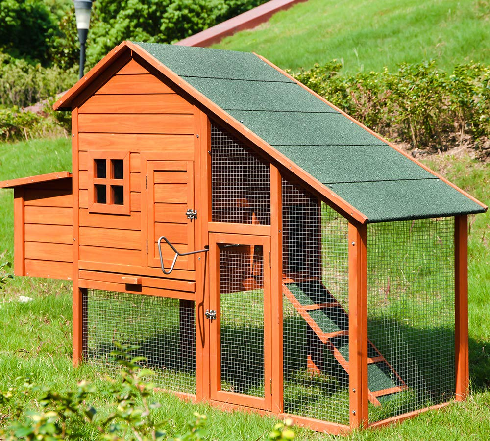 Merax Chicken Coop Wooden House Cage for Small Animals Hen Coop Nesting Box (Chicken Coop#1) by Merax