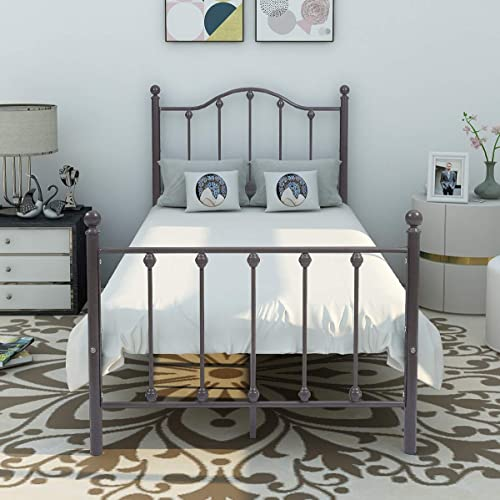 BOFENG Metal Bed Or Platform with Headboard