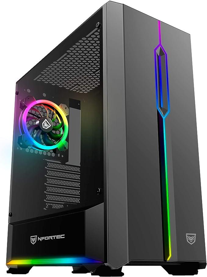 Nfortec Antares Torre Gaming Negra RGB (Cristal Templado): Amazon.es: Informática
