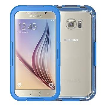 iThroughTM - Carcasa para Galaxy S6, S6 Edge, impermeable ...