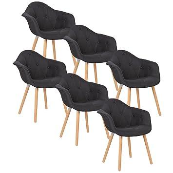 Woltu # 784 6 x Sillas de Comedor - Juego de 6 Silla de Comedor con ...