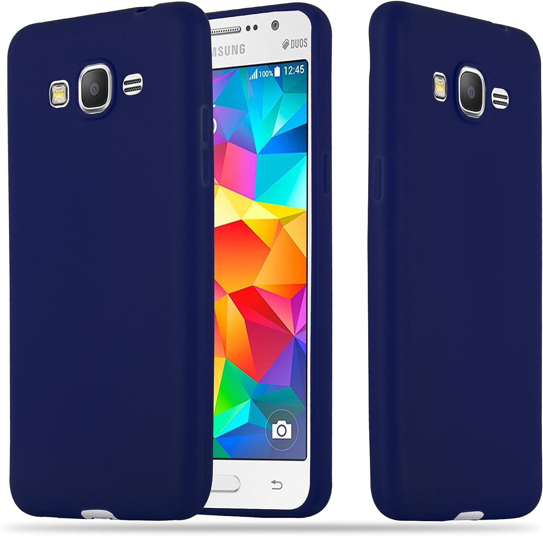 Cadorabo Coque pour Samsung Galaxy Grand Prime en Candy Bleu FONCÉ - Housse Protection Souple en Silicone TPU avec Anti-Choc et Anti-Rayures - Ultra ...