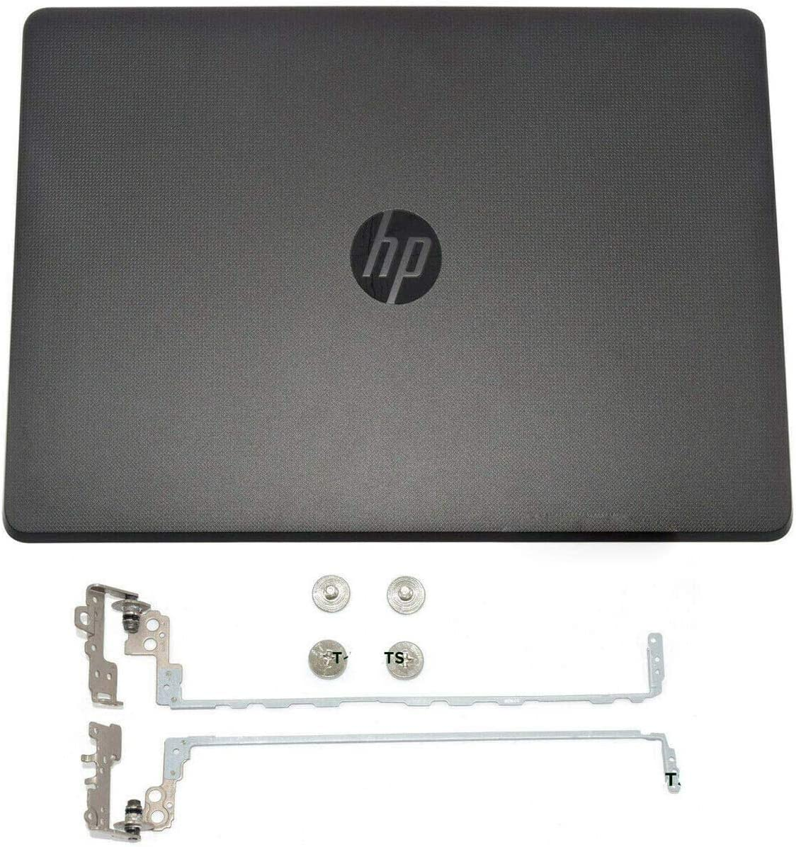 LhyParts New LCD Back Cover Rear Lid & Hinges 924899-001 Black for HP 250 G6 255 G6 256 258 G6 15-BS 15T-BR 15Q-BU 15T-BS 15-BW