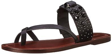 Via Spiga Women's Gwenda Toe Ring Sandal, Black, ...