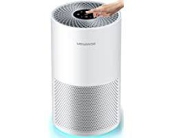 MegaWise Smart Air Purifier for Home Large Room up to 1008ft², H13 True HEPA Filter with Smart Air Quality Sensor, Sleep Mode