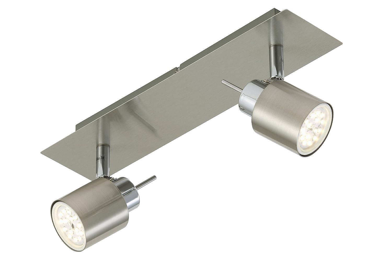 Briloner LED Strahlerbalken pin Silbergrau Silbergrau | Inklusive Leuchtmittel: GU10 2,30W | 2006-022 [Energieklasse A+]