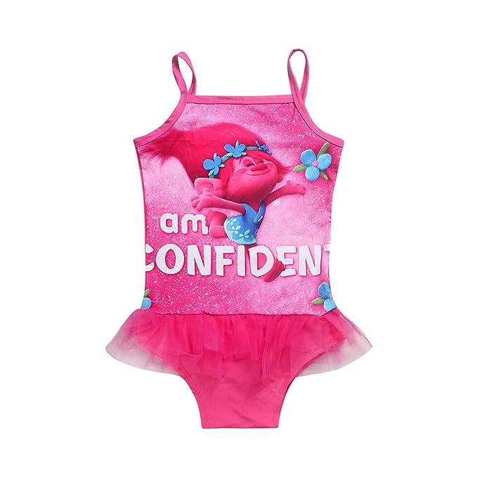 Trolls Girls Swimwear Swimsuit Toddler//Little Kid