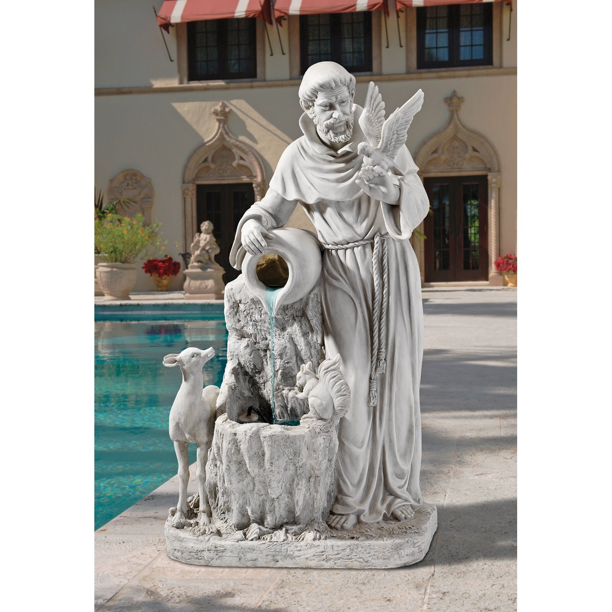 Amazon.com : St. Francis Of Assisi Fountain Sculpture Life Giving Chirstian  Waters Garden Statue : Outdoor Statues : Garden U0026 Outdoor