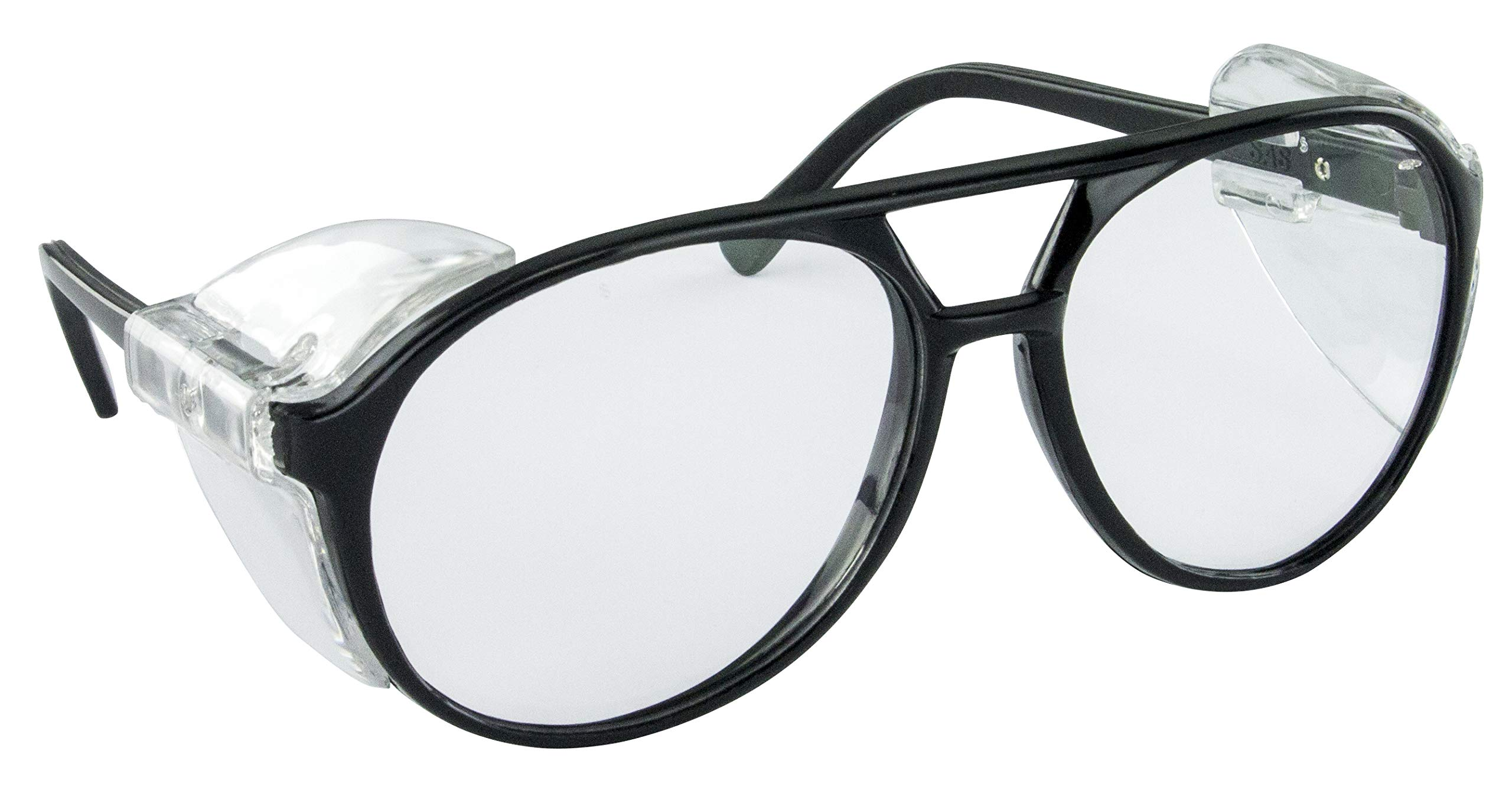 SAS Safety 5125 Classic Safety Glasses with Polybag, Black Frame/Clear Lens