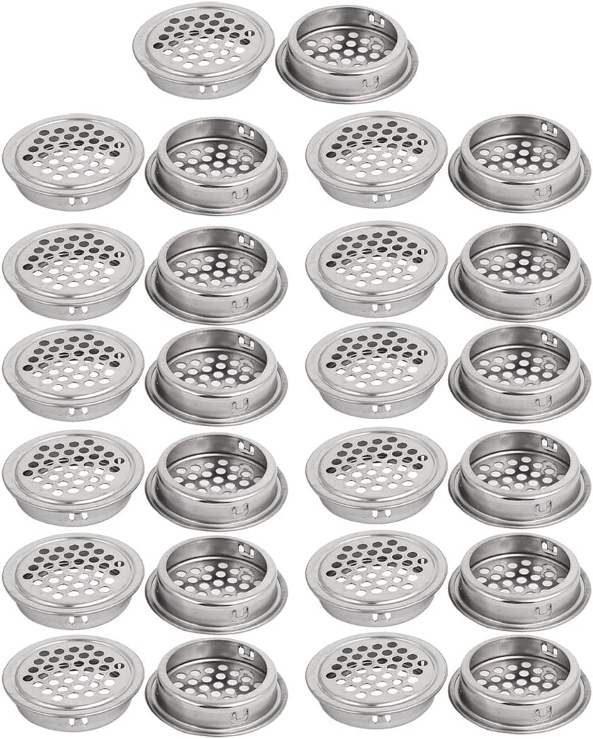 Metal Perforated Round Mesh Hole Air Vent 40mm Dia 25PCS