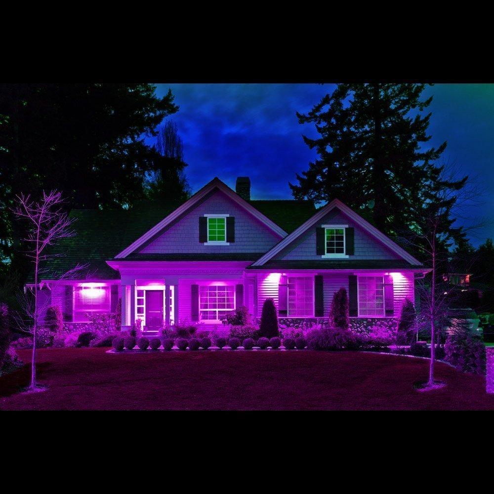 Ustellar 2er RGB 30W LED Strahler Mit Fernbedienung 16 Farben und 4 Modi Objektbeleuchtung LED Fluter Flutlichtstrahler Garten Stimmungslichter IP66 Wasserdicht LED Flutlicht Aluminium Au/ßenstrahler