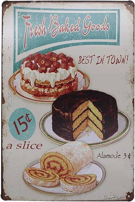 HOMEMADE APPLE PIE Poster métal étain signes rétro plaque desserts Shop decor