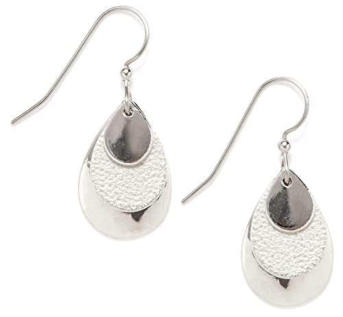 5730e7318 Image Unavailable. Image not available for. Color: Silver Forest Layered Teardrop  Earrings