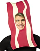 Bacon Open Face Mask, As Shown, One Size Fits Most