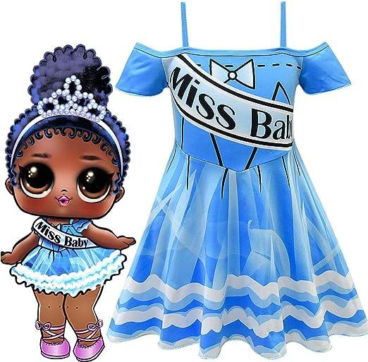 QYS Niñas pequeñas Brillo LOL Sorpresa Disfraces de Muñecas ...