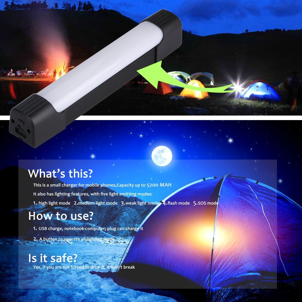Portable LED Outdoor Camping Light Stick, Magnet LED Work Light for Car Repair, Garage, Camping, Hiking, Fishing by jajoy (Image #5)