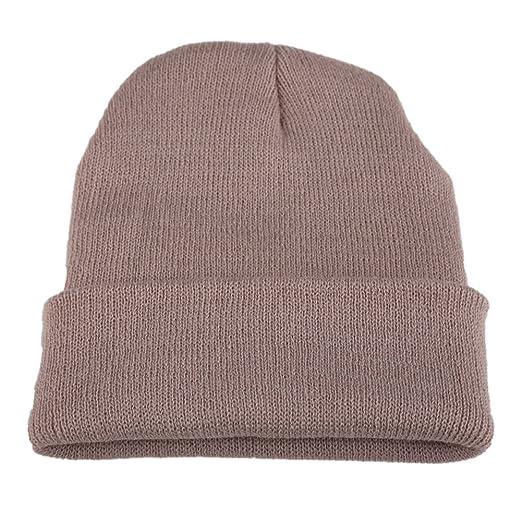 Globeagle Men s Women Beanie Knit Ski Cap Hip-Hop Winter Warm Unisex Wool  Hat Beige e2316f228b3