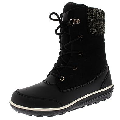 Mujer Puño Cardy Hecho Punto Nieve Piel Sintética Pato Invierno Durable Térmico Impermeable Botines: Amazon.es: Zapatos y complementos
