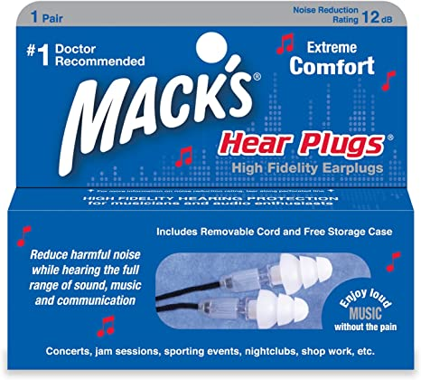 Macks High Fidelity Hear Plugs 1 Count Amazon Co Uk Health Personal Care