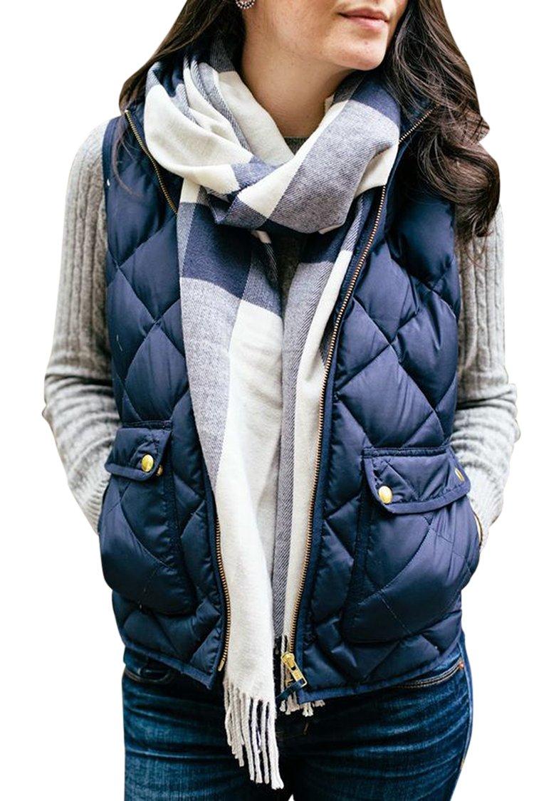 Fixmatti Women¡¯s Outwear Ultra Lightweight Packable Puffer Down Vest Coat S