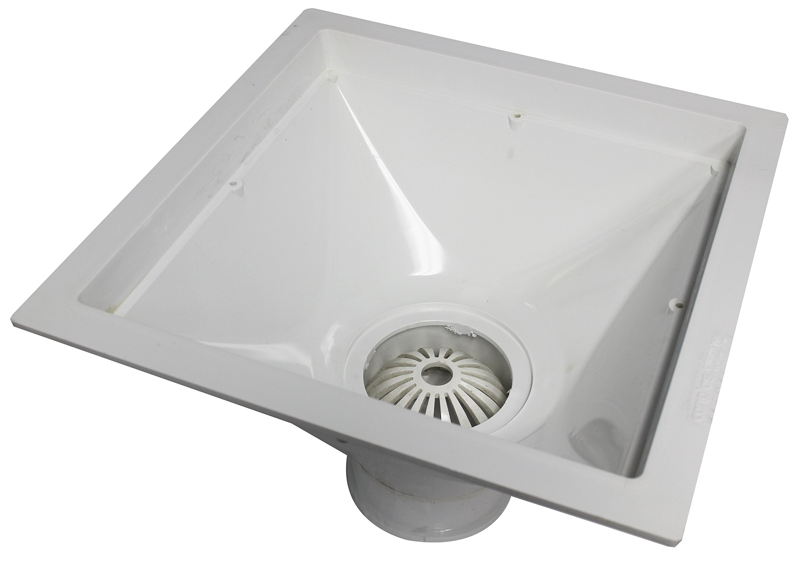 Endura 394723 12-Inch by 12-Inch by 6-Inch PVC Floor Sink for Standard Floor with 3-Inch Hub by Endura