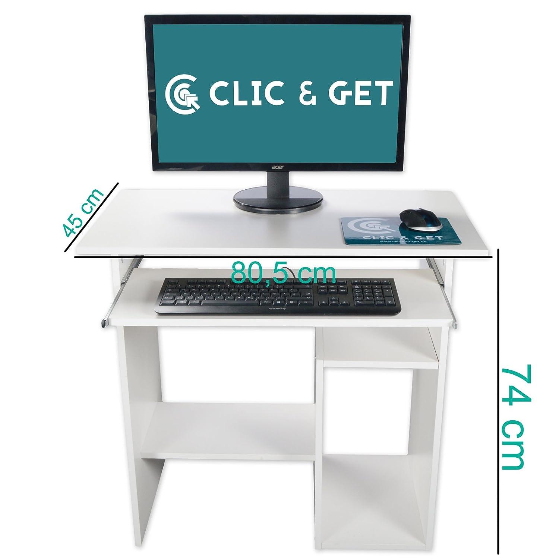 DRULINE Computertisch PC Tisch Schreibtisch Computerschreibtisch B/ürotisch Arbeitstisch Linda Schwarz