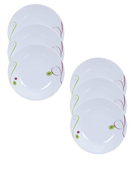 Corelle India Collection Royal Sequins Small Plate Set, 17.1cm, Set of 6 at amazon