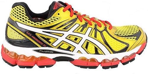 Asics Gel-Nimbus 15 Mens Trainers Yellow/Red, T3BON 0400, 50.5 EU / 32 cm: Amazon.es: Zapatos y complementos