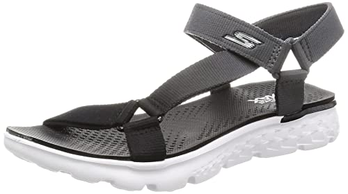 6e0d6ff68692 Skechers On The Go 400 Jazzy Womens River Sandals Black Gray 5 ...