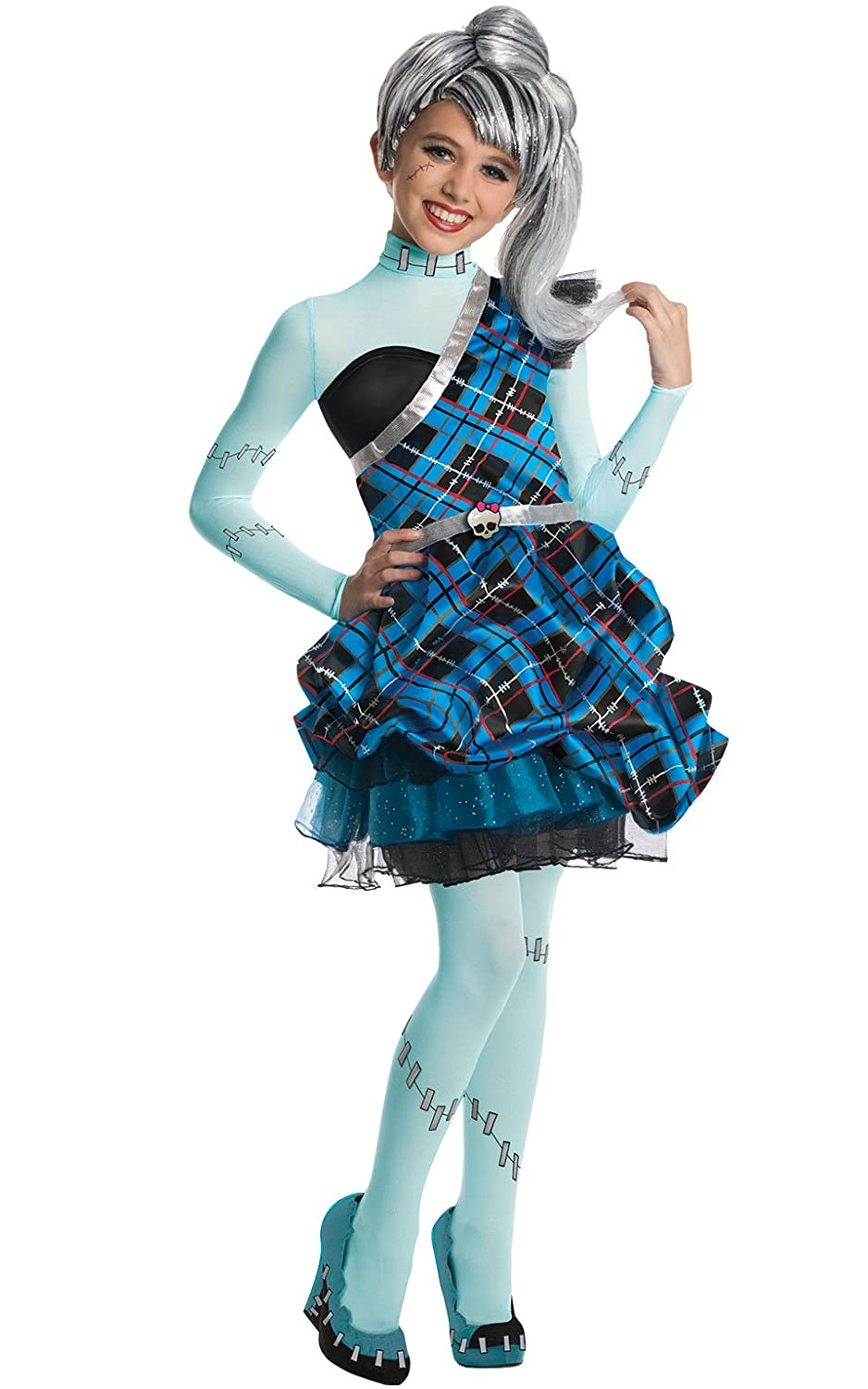 Amazon.com Monster High Sweet 1600 Deluxe Frankie Stein Costume Small Toys u0026 Games  sc 1 st  Amazon.com & Amazon.com: Monster High Sweet 1600 Deluxe Frankie Stein Costume ...