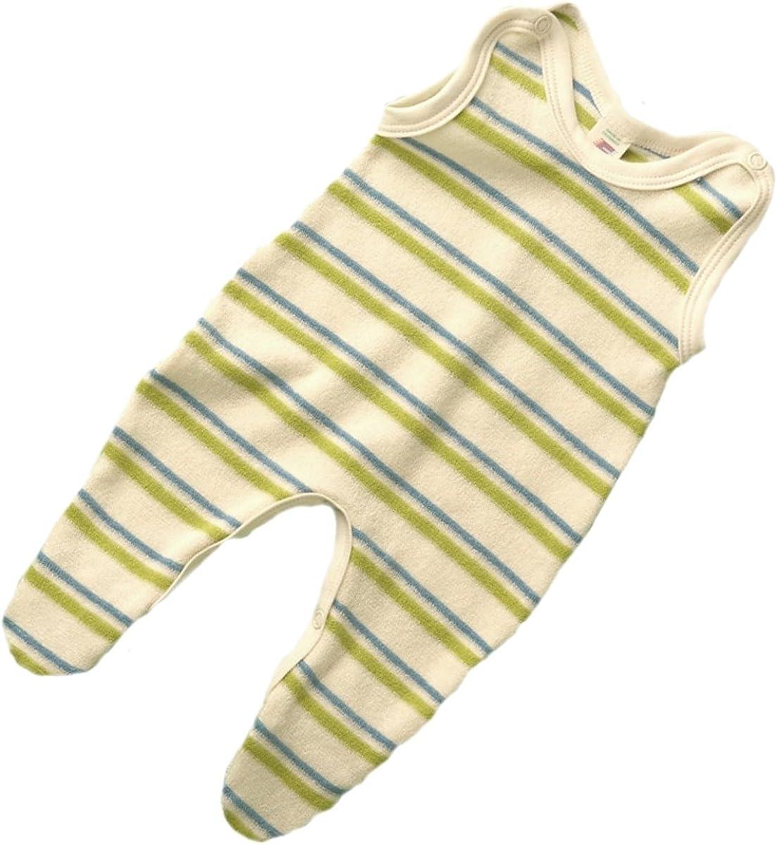 Engel Naturtextilien Baby Einteiliger Schlafanzug mit Fu/ß Naturtextilien Baumwolle
