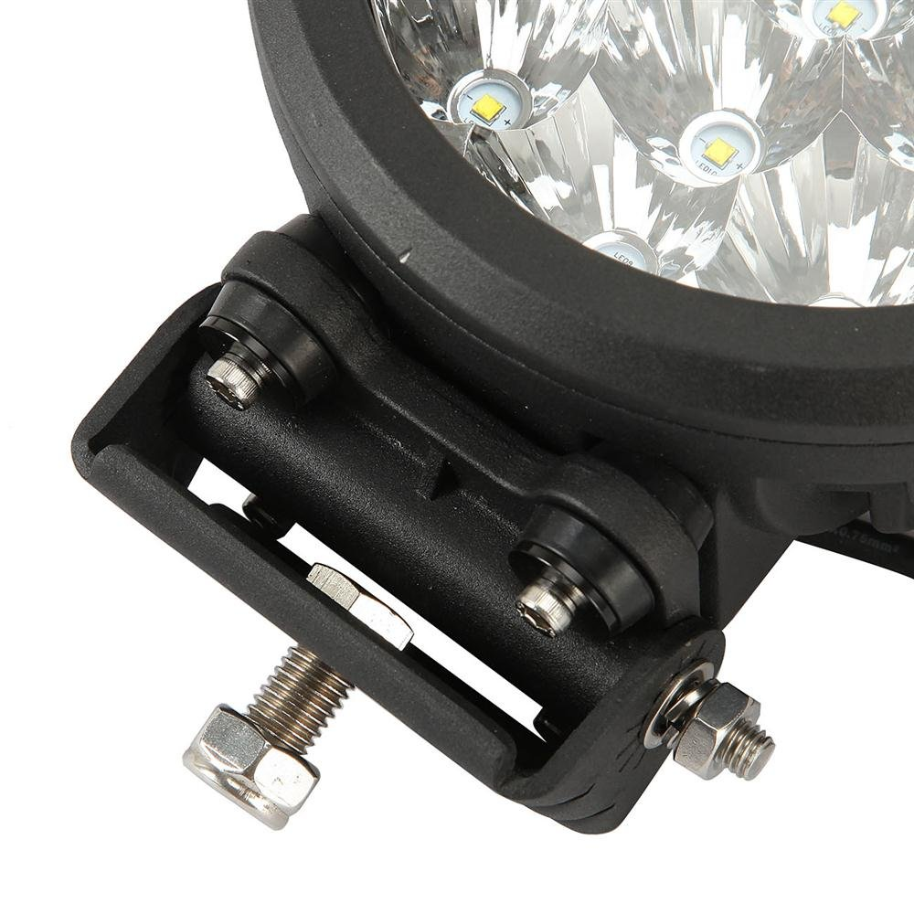 Auxbeam 7 Round Driving Light 80w Cree Led 8000lm Combo Wiring Harness 2016 Jeep Liberty Beams For Offroad Atv Utv Golf Cart Lighting Trucks Pickup Ford F150 Work