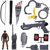 FI - FLICK IN Military Police Army Man Action Figure Toys Play Set for Kids with Full Accessories and Action Figure Police Army Man (16 Pcs)