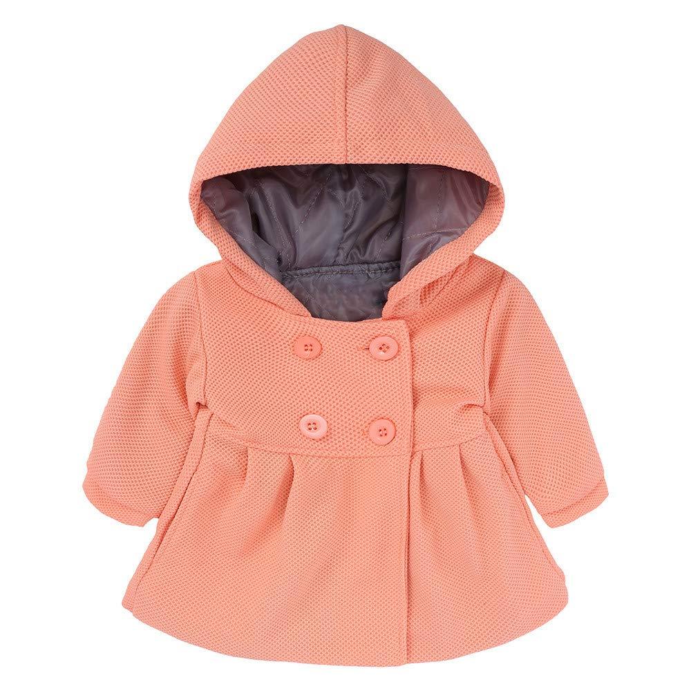 Tronet Baby Girls Windproof Jacket Outerwear Toddler Baby Kids Winter Cartoon Animal Jacket Warm Clothes Outerwear