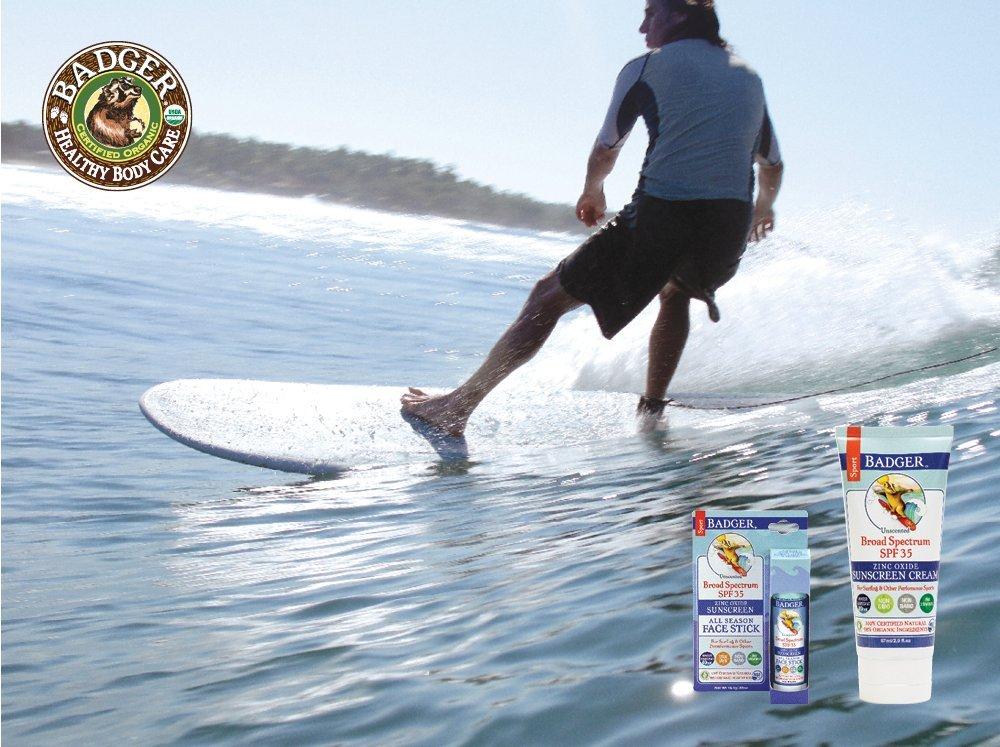 Badger SPF 35 Sport Sunscreen Cream – 2.9 fl oz Tube