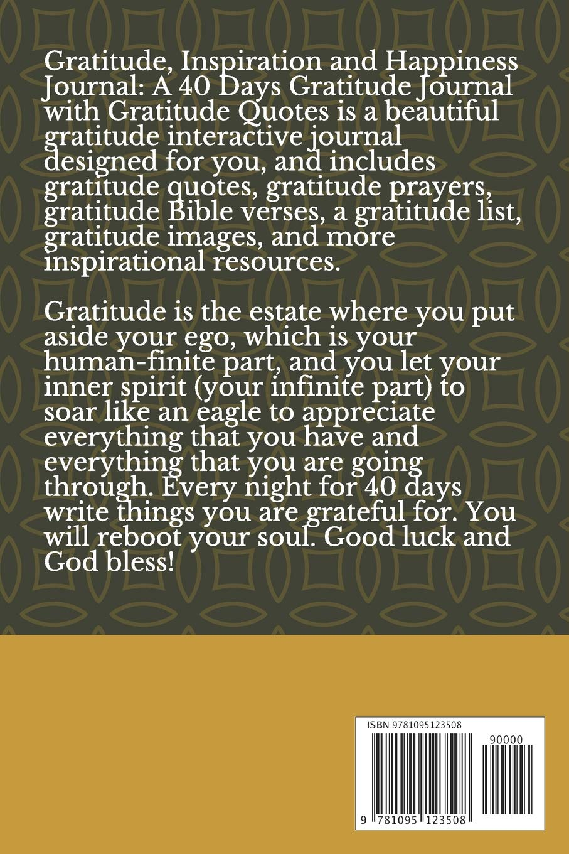 gratitude inspiration and happiness journal a days gratitude