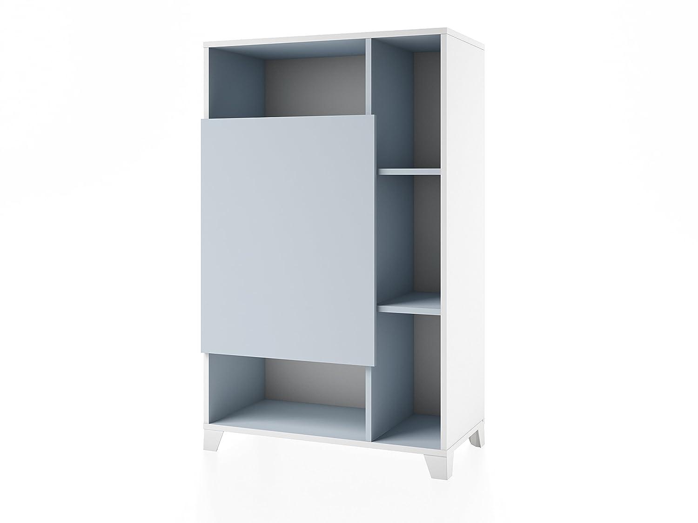 Alsapan 501850 White Biblioteca de cámara Madera Blanco – 73 x 37 x 117 cm