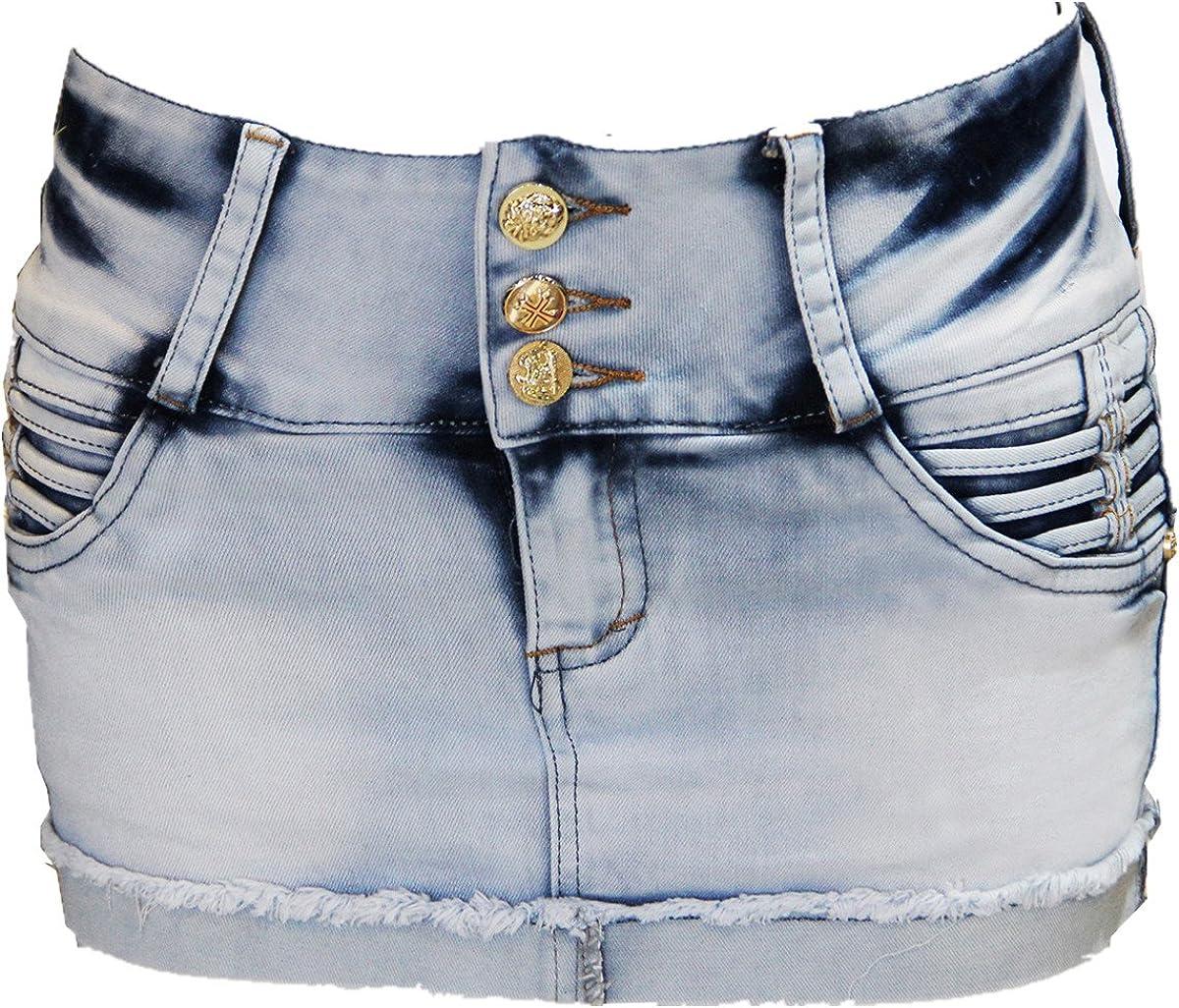 FARINA® 1689 Vaquero Mini Falda, Jeans Faldas, Faldas Cortas para ...