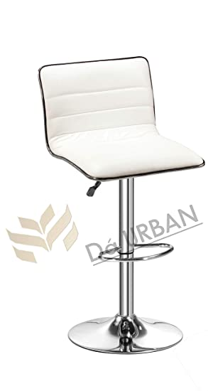 Da URBAN Flash Bar Stool/Chair (White) (1 Pc) Height Adjustable- ISO & BIFMA Certified