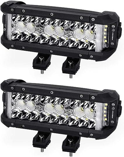 YITAMOTOR - Barra de luz LED, 2 unidades, 102 W, 8 pulgadas, foco ...