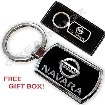 Cargifts Llavero de Metal Cromado para Nissan Navara: Amazon ...