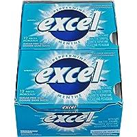 Excel Sugar-Free Gum, Peppermint, 12 Count